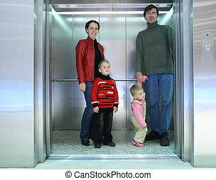 famille, ascenseur