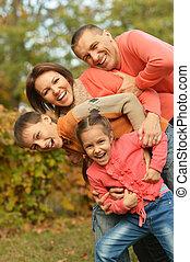 famille, délassant, heureux