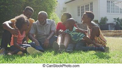 famille, dépenser, heureux, ensemble, temps