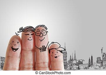 famille, doigt