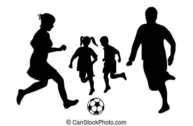 famille, football
