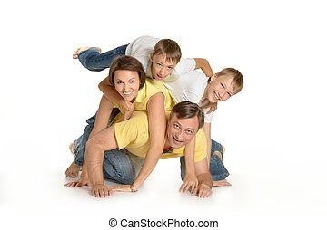 famille heureuse, plancher