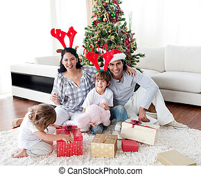 famille heureuse, séance