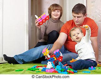 famille, jeux, maison