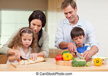 famille, partage, ingrédients