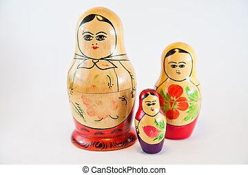 famille, poupées, tradition, russe