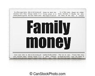 famille, titre, argent, banque, journal, concept:
