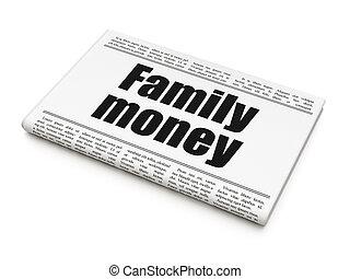 famille, titre, devise argent, journal, concept: