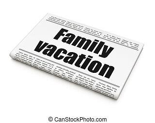 famille, titre, vacances, journal, tourisme, concept: