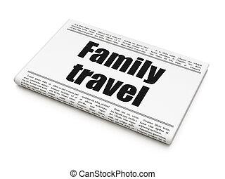 famille, titre, voyage, journal, tourisme, concept: