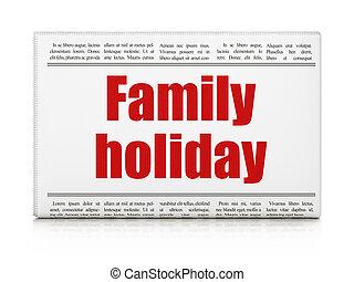 famille, titre, voyage, journal, vacances, concept: