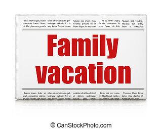 famille, titre, voyage, vacances, journal, concept: