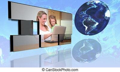 familles, interne, international, utilisation