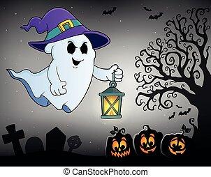 fantôme, topic, 2, chapeau, lanterne