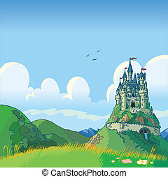 fantasme, château, fond