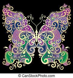 fantasme, gold-colorful, papillon