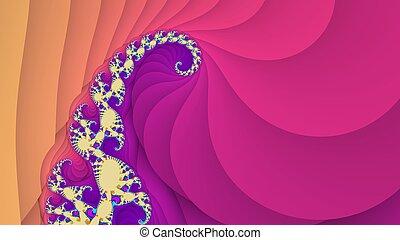 fantastique, spirale, fond