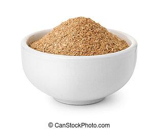 farine, céramique, bol, son de blé