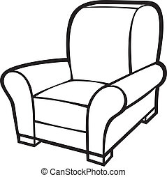 fauteuil, baquet, chair), (leather