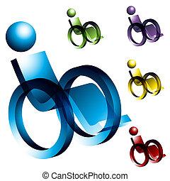 fauteuil roulant, icônes