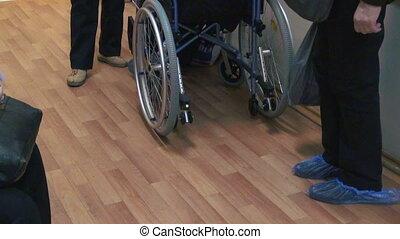 fauteuil roulant, patient, clinique