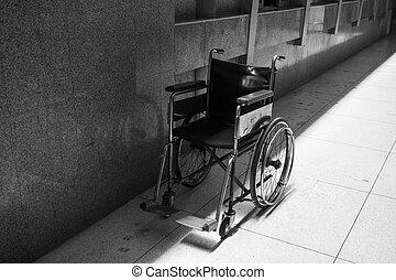 fauteuil roulant, vide