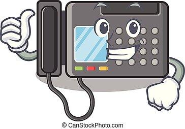 fax, caractère, haut, machine, forme, pouces