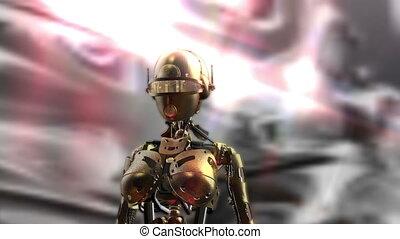 fembot, animation, numérique