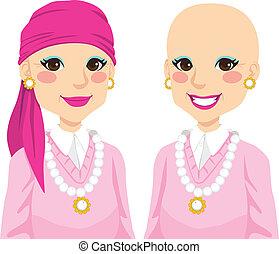 femme aînée, cancer