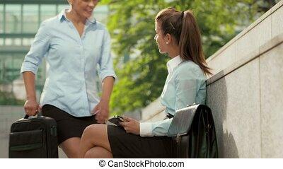 femme affaires, utilisation, pc tablette