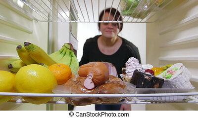 femme, affamé, régime, bas-calorie