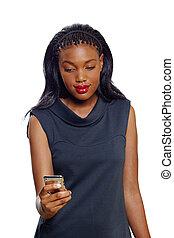 femme américaine africaine, business