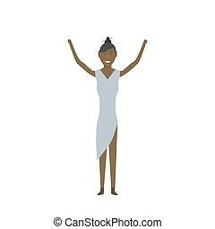 femme américaine, africaine