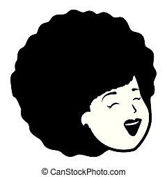 femme américaine, africaine, figure