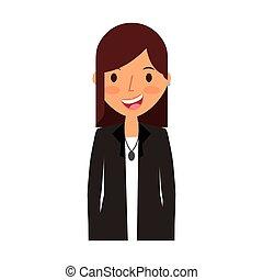 femme, caractère, jeune, avatar