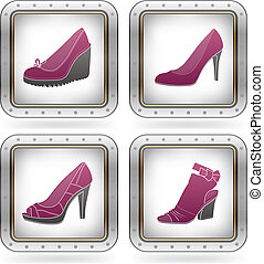 femme, chaussures