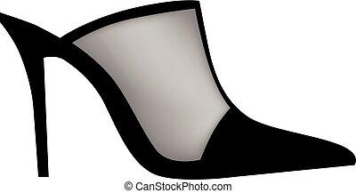 femme, chaussures, moderne