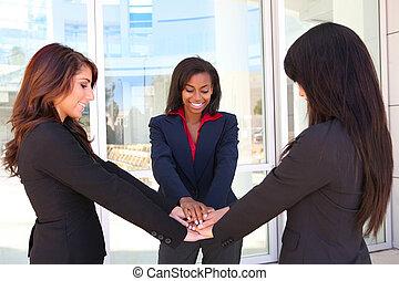 femme, collaboration, business