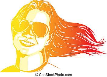 femme, coloré
