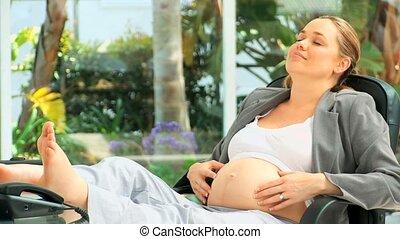 femme enceinte, business