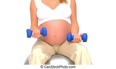 femme enceinte, exercices, agai