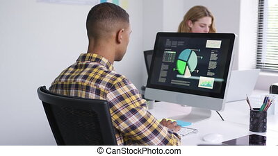 femme, fonctionnement, homme, ordinateurs
