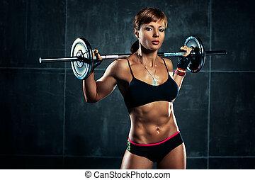 femme, jeune, sports