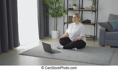 femme méditer, excès poids