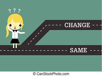 femme, même, passé, avenir, choisir, ou, changement