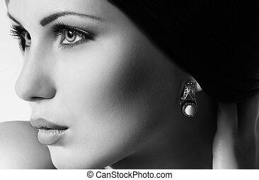 femme, mode, bijouterie