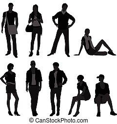 femme, mode, femme, modèle, mâle, homme