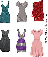 femme, robes