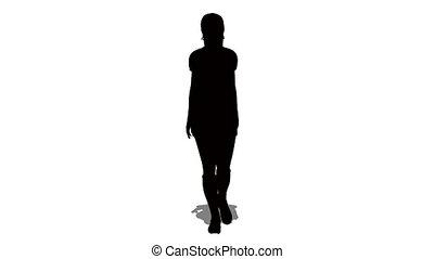 femme, silhouette
