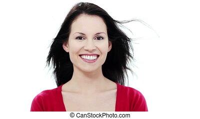 femme souriant, jeune